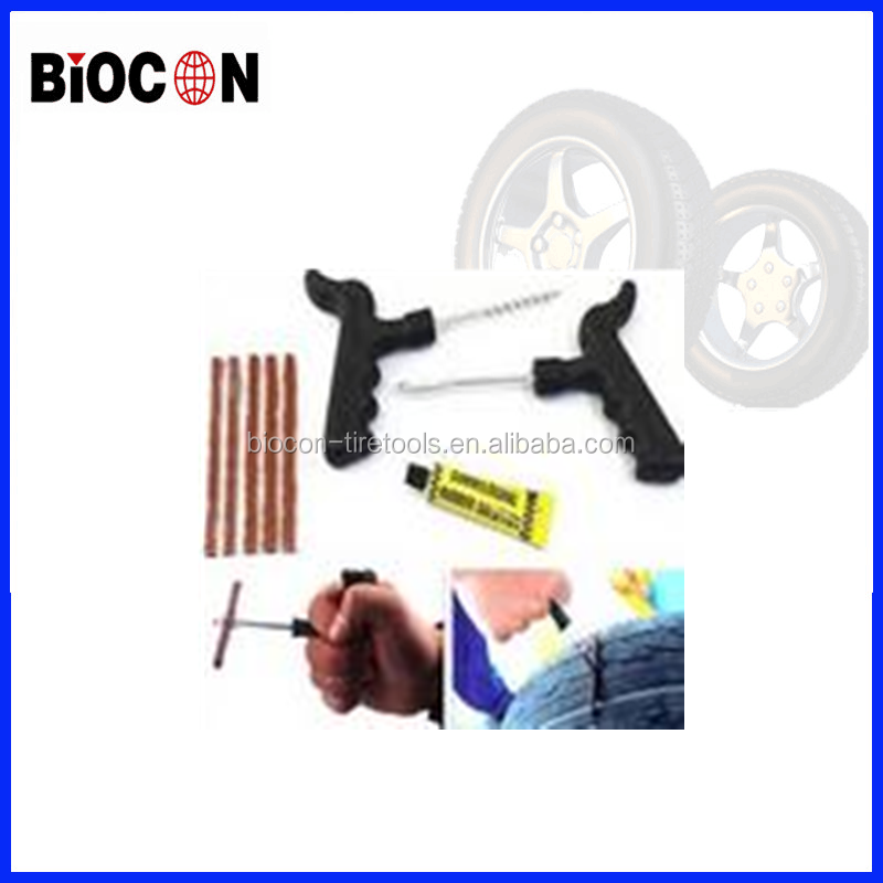 china car High quality hand tool Car Motorcycle Bike Tubeless Tire Tyre Puncture with Repair Kit Tool