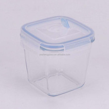 Microwave oven safe deep square soup box /glass container with vented locking lid