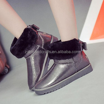 Wholesale manufacture winter warrm pu women boot