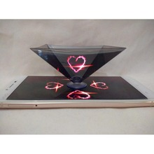 hologram viewer Pyramid Mobile phone 3D holographic 3D hologram projector
