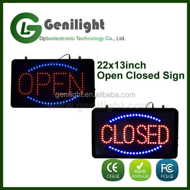 Alibaba Hot-sale Electronic Led Open Closed Sign 56*33cm Variable Message Signs