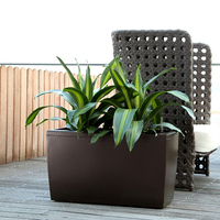 Outdoor garden big plastic flower plant pots wholesale