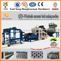 China Factory Higher Cost Performance QTJ4-18 automatic colorful fly ash paver cement concrete block making machine price