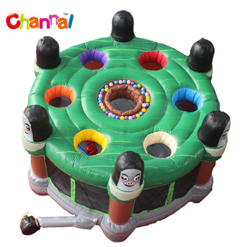 Hot sale cheap inflatable human whack a mole interactive game for kids