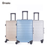 2pcs set PC material spinner wheels satin lining with usb charge port travel pro luggage