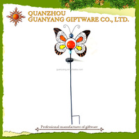 Wholesale Metal Butterfly Garden Ornament Solar Light Stake