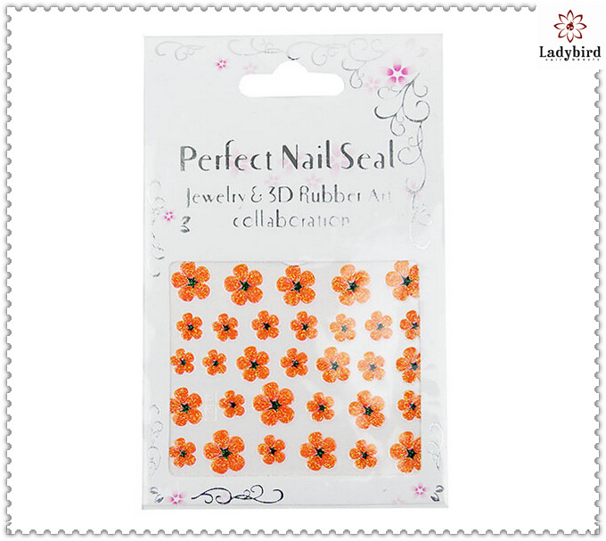 New 2014 colorful Flowers Design Nail Stickers,Nail Art Sticker,3D Sticker Nail Art