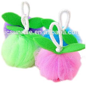 High Quality Cheap Body Soft Mesh Sponge Bath Ball With Rope
