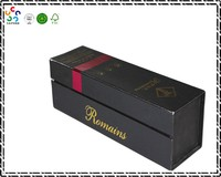 Paris Single Square Elegant Eco Customized Bottle Gift Paper Red Wine Box