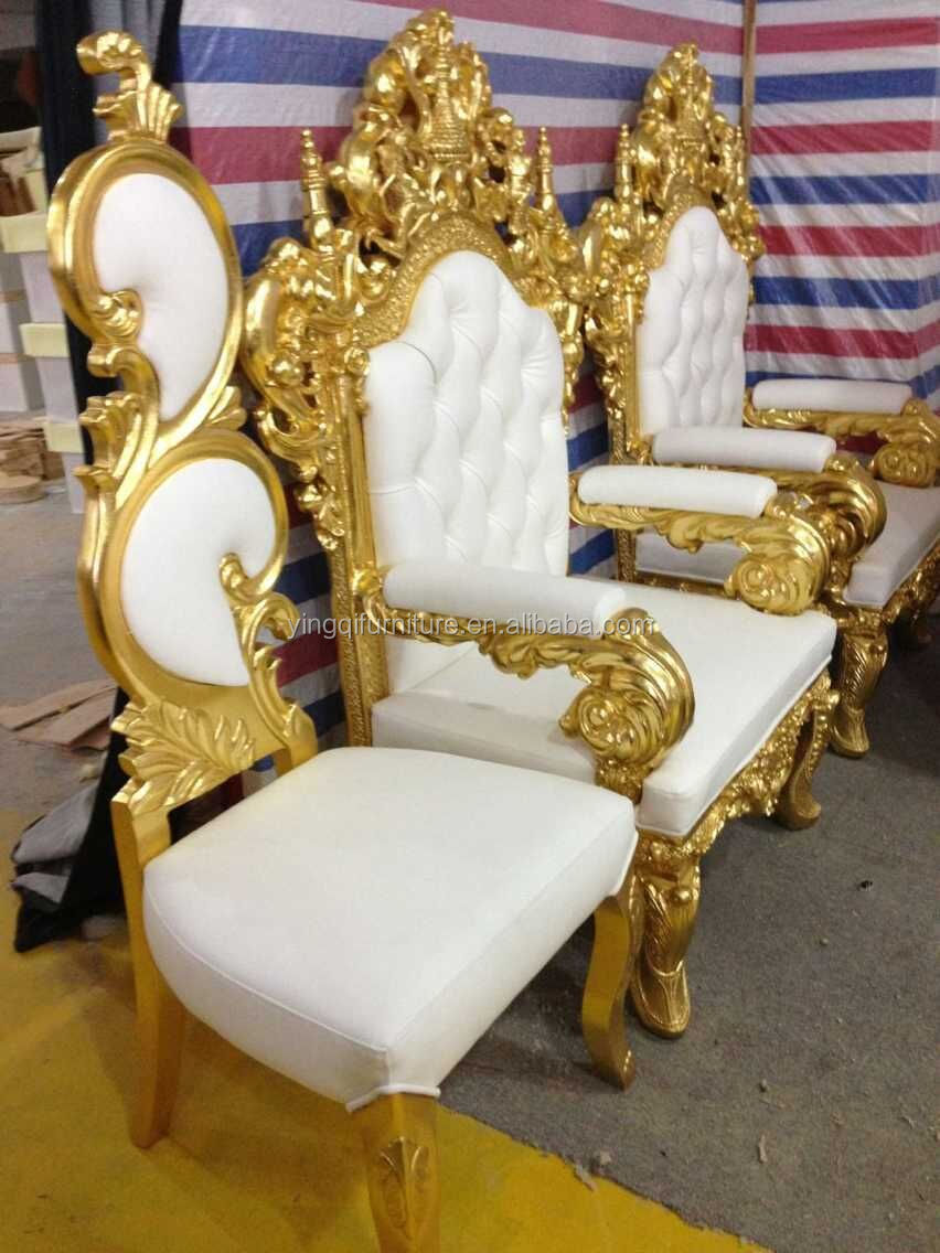 French Style Royal Throne King Chairs For Hotel Halls And
