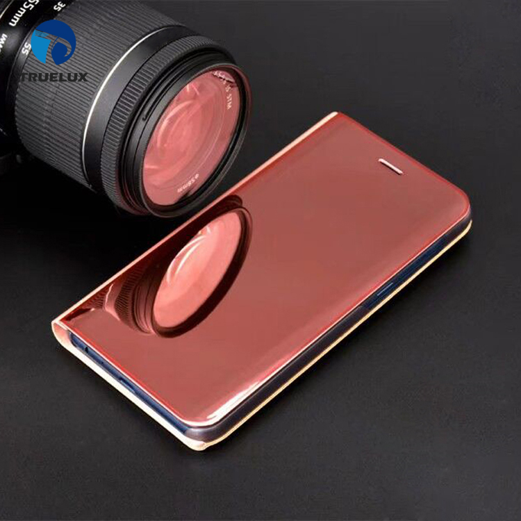 Wholesale Price Mirror Leather Case With Stand for Samsung Galaxy S9