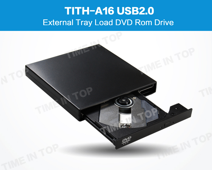8X External USB DVD ROM Player Reader Combo Drive For Laptops