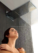 Stainless steel wall mount top waterfall and rain shower head