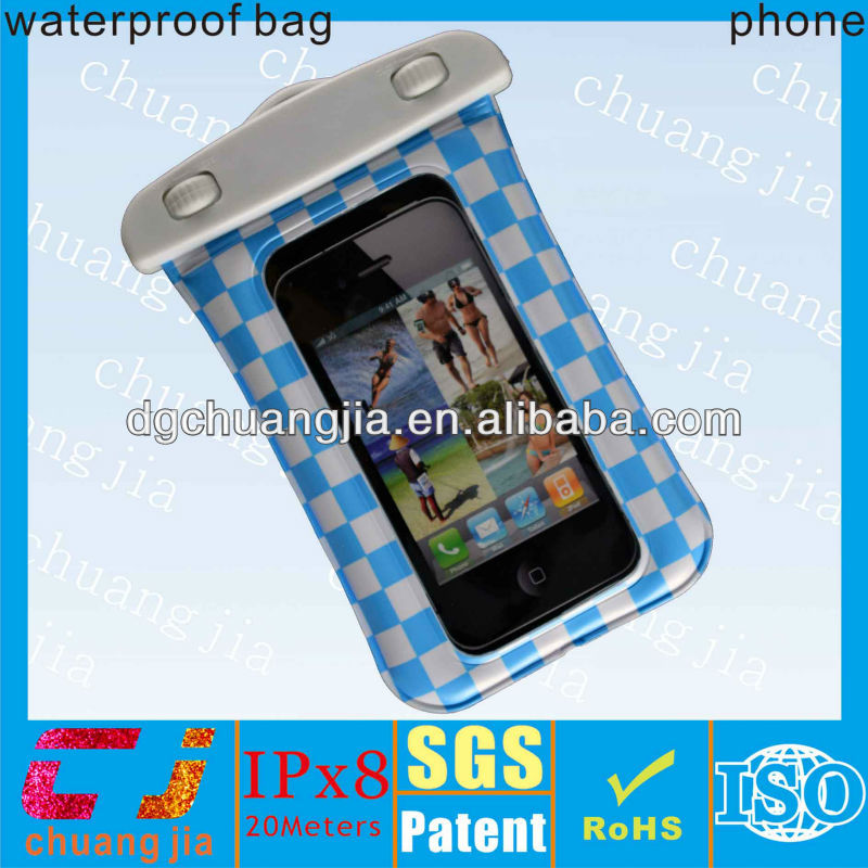plastic pvc waterproof bag case for iphone5