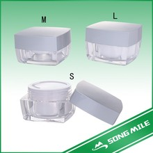 Acrylic cosmetic jar for cream