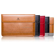 "Premium Real Genuine Leather Flap Sleeve Bag Case Notebook Cover Pouch for MacBook 11"" 12"" 13"" 15"" Air Pro Retina Laptop Tablet"