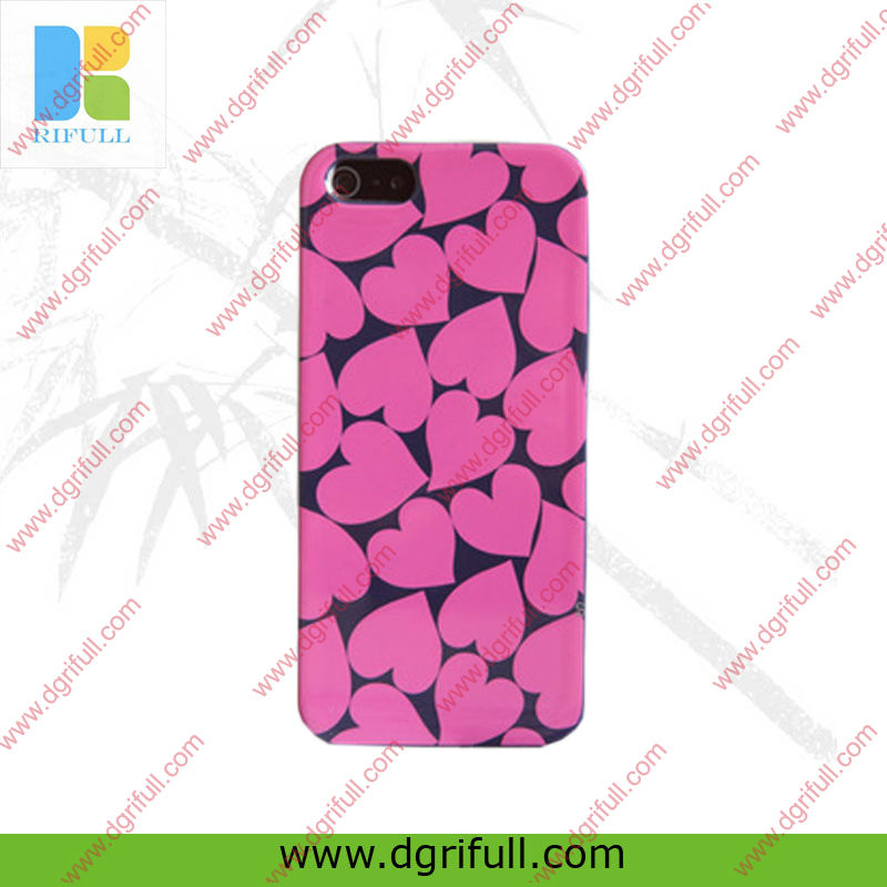 red heart design your own cell phone case