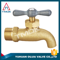 basin tap/faucet male female NPT thread washing chromed plated wall mounted T-handle stop valve forged bibcock outdoor bibcock