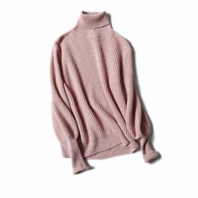 Turtleneck sweater cashmere knitted women pullover sweaters plus size heavy sweater for winter