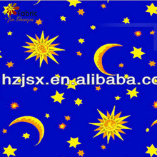 Anti-static high quality bedding set cotton fabric moons and stars