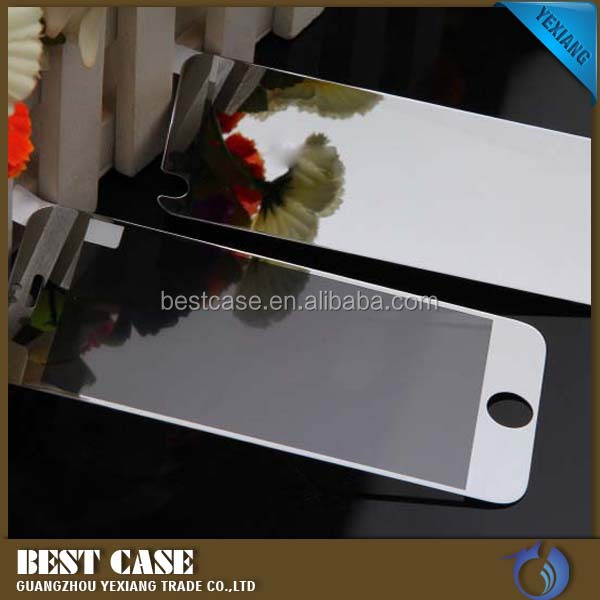Colorful perfect fit clear tempered glass screen protector film for iphone 4 4s