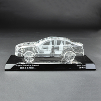 elegant engraving 3d laser crystal car model /Hot Sale Crystal Glass Model Gifts Figurines