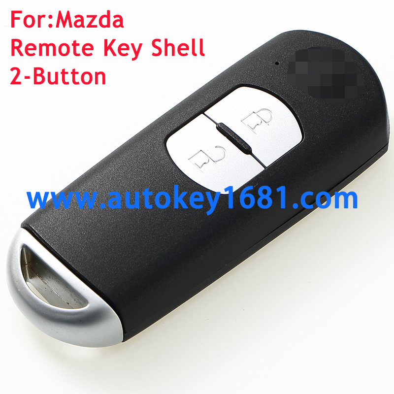 Replacement Remote Car key Shell Case Fob 2 Button for Mazda 3 6 CX-7 CX-9 MX-5 with uncut key blade