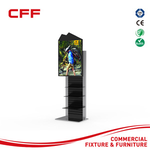 factory custom interactive flooring display stand with touch screen for sports