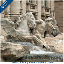 Handcraft granite outdoor horse water fountain for square project