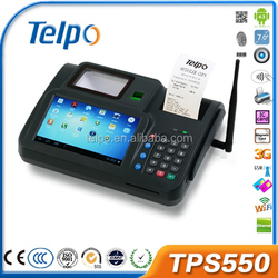 Telpo metal keyboard with trackball and numeric keypad android pos device TPS550
