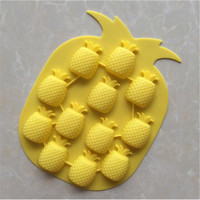 Top quality BPA free 12 cavity pineapple shaped silicone chocolate mold