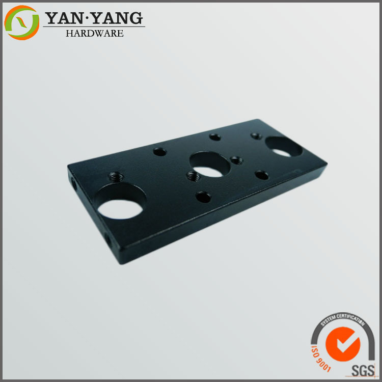 Custom high quality cnc machining black anodized panel in China
