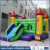 Colorful inflatable bouncer castle with small slide for kids