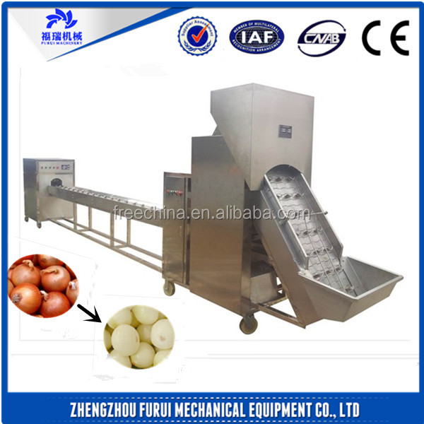 Excellent!!! onion peeling machine/onion cutting machine/onion peeling and root cutting machine