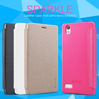Visual Flip Leather Case For OPPO Mirror 5 NILLKIN Sparkle Phone Case Cover