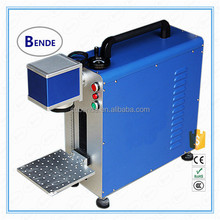 10w/20w/30w portable type high speed handy fiber laser marking machine to mark metal with high precision