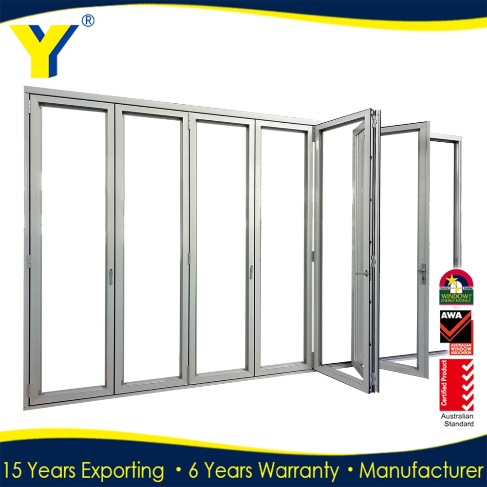 AS/NZS Dor Quality assured aluminum folding door with retractable screen door