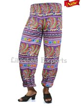 CP2718 Cotton boho harem pant Boho style baggy pants balloon casual pants casual womens trousers