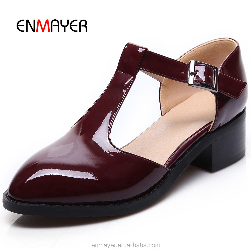 Best selling T strap roseo girls casual <strong>shoes</strong> classic elegant women patent leather women flat <strong>shoes</strong>
