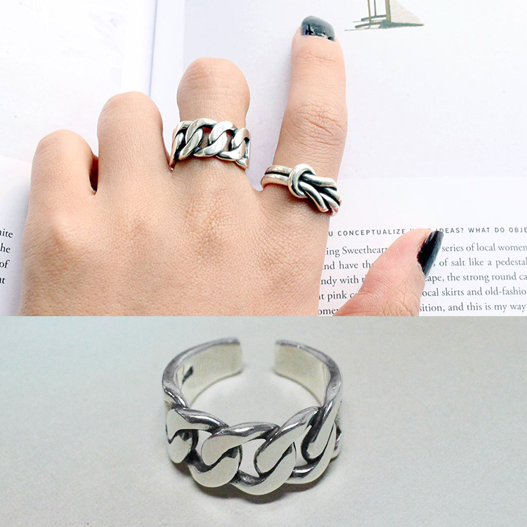 Chains of Coarse Pure Silver Rings Jewelry 925 Sterling Silver Rings Jewelry Low Price Silver Ring