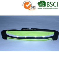 Wholesale running belt with LED waterproof waist bag for outdoor sport