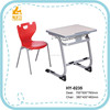 HY-0235 pink used school furniture desk and chair
