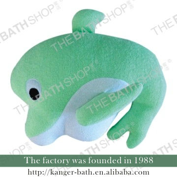 plush sea animal green Dolphin baby bath doll stuffed shower toys