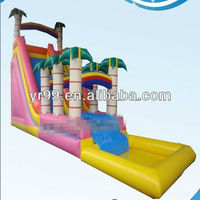 2015 inflatable water slides inflatable beautiful slide for girls and boys Giant slide inflatables
