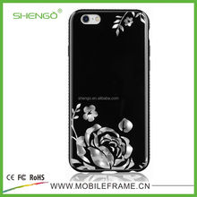 SHENGO New Design imd in mold decoration With 3d Pattern Design Mobile Hard Case for iPhone