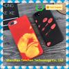 Hot new trend temperature sense pu leather case cover for iphone