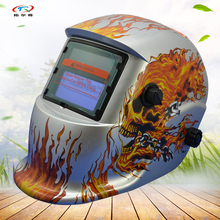 TRQ-HD08 grinding function silver color spider man welding mask helmet manufacture