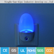 egg chaped led wall lamp,color changing light sensor night light with plug