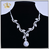 latest design fashion rhinestone crystal cup necklace long chain jewelry