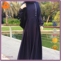 2017 Custom Muslim Dubai Abaya Wholesale Double Pleats Maxi Dress
